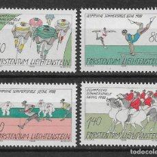 Sellos: LIECHTENSTEIN 1988 SC# 888-891 (4) DEPORTES - MNH - 1/24. Lote 143342254