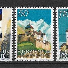 Sellos: LIECHTENSTEIN 1986 SC# VIEWS OF VADUZ CASTLE. - MNH - 1/24. Lote 143342626