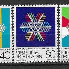 Sellos: LIECHTENSTEIN 1983 SC# 772-774 (3) MNH - 1/26. Lote 143343410