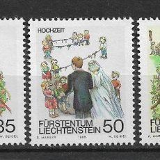Sellos: LIECHTENSTEIN 1986 SC# 844-846 (3) MNH - 1/26. Lote 143343442