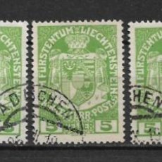 Sellos: LIECHTENSTEIN 1917 USED - 1/59. Lote 143857714