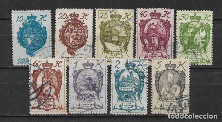 LIECHTENSTEIN 1920 USADOS - 2/10 (Sellos - Extranjero - Europa - Liechtenstein)
