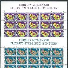 Sellos: LIECHTENSTEIN,EUROPA,1973,BLOQUE DE 20 SELLOS,MNH**. Lote 286654408