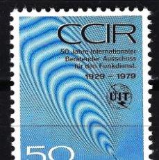 Timbres: LIECHTENSTEIN 1979 YVERT 669 MNH** NUEVO - UNIÓN INTERNACIONAL DE COMUNICACIONES. Lote 146766638