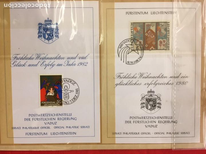 Sellos: Liechtenstein sellos colección en sobres 2 hojas - Foto 2 - 147652788