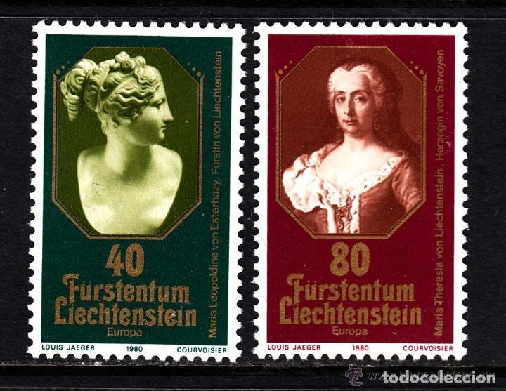LIECHTENSTEIN 1980 IVERT 682/3 *** EUROPA - PRINCESAS DE LIECHTENSTEIN (Sellos - Extranjero - Europa - Liechtenstein)