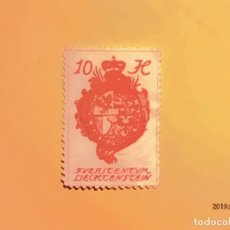 Sellos: LIECHTENSTEIN 1920 - ESCUDOS - IGLESIAS - 20 H.. Lote 151397098
