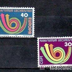 Sellos: LIECHTENSTEIN 1973 IVERT 532/33 *** EUROPA. Lote 151869186