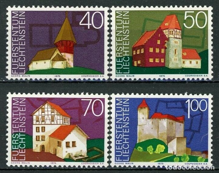 LIECHTENSTEIN 1975 IVERT 573/6 *** AÑO EUROPEO DEL PATRIMONIO ARQUITECTÓNICO - MONUMENTOS (Sellos - Extranjero - Europa - Liechtenstein)