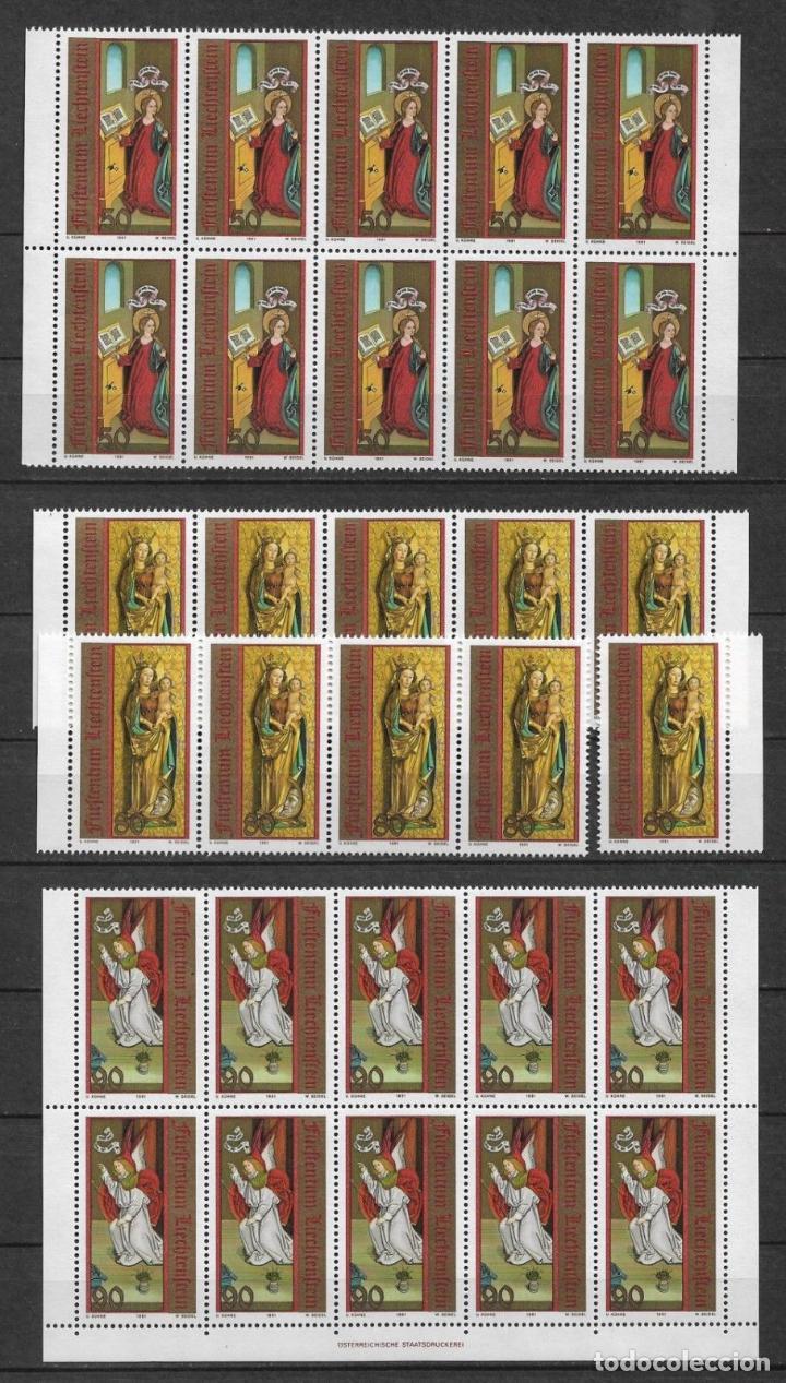 LIECHTENSTEIN 1991 ** NUEVOS SC 970-972 (3) 3.05 X10 NAVIDAD - 2/57 (Sellos - Extranjero - Europa - Liechtenstein)