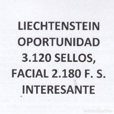 Sellos: INTERESANTE LOTE DE LIECHTENSTEIN COMPUESTO POR 3.120 SELLOS CON 2.180 FRANCOS SUIZO DE FACIAL +. Lote 155286394