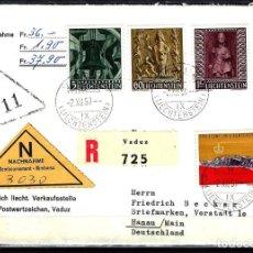 Sellos: 1959 LIECHTENSTEIN SOBRE PRIMER DÍA SPD FDC YVERT 350/352 MICHEL 386/388 - NAVIDAD RELIGIÓN CERTIFIC. Lote 158156994