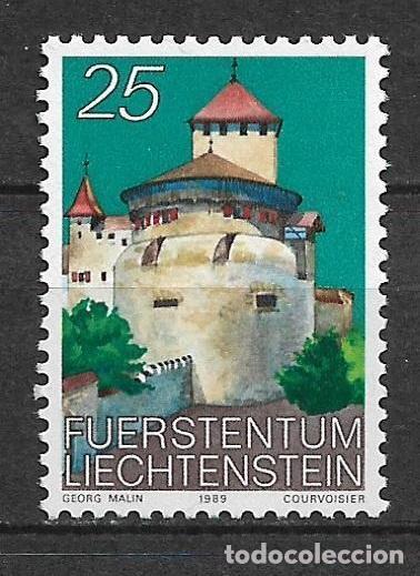 LIECHTENSTEIN 1989 ** NUEVO ARQUITECTURA CASTILLOS - 4/27 (Sellos - Extranjero - Europa - Liechtenstein)