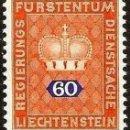 Sellos: [CF1073A] LIECHTENSTEIN 1968, SERIE CORONA, 60 C. (MNH). Lote 160440014