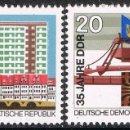 Sellos: [CF2280A] DDR 1984, SERIE 35 ANIV. FUNDACIÓN DE LA DDR (MNH). Lote 160479814