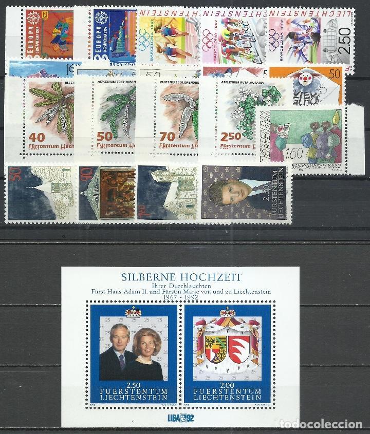 LIECHTENSTEIN - 1992 - MICHEL 1033/1053** MNH (AÑO COMPLETO) (Sellos - Extranjero - Europa - Liechtenstein)