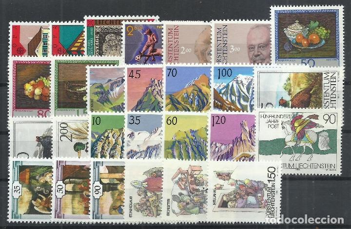 LIECHTENSTEIN - 1990 - MICHEL 984/1010** MNH (AÑO COMPLETO) (Sellos - Extranjero - Europa - Liechtenstein)