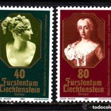 Sellos: LIECHTENSTEIN 1980 IVERT 682/3 *** EUROPA - PRINCESAS DE LIECHTENSTEIN. Lote 164502542