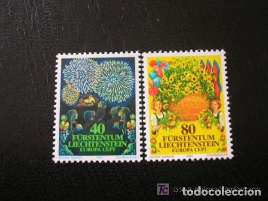 LIECHTENSTEIN 1981 IVERT 705/6 *** EUROPA - FOLKLORE (Sellos - Extranjero - Europa - Liechtenstein)