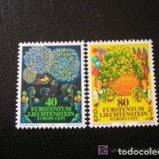 Timbres: LIECHTENSTEIN 1981 IVERT 705/6 *** EUROPA - FOLKLORE. Lote 164503150