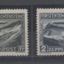 Sellos: GRAF ZEPPELIN=LIECHTENSTEIN=Nº 7/8 _NUEVOS SIN FIJASELLOS_ VER FOTOS. Lote 164628694