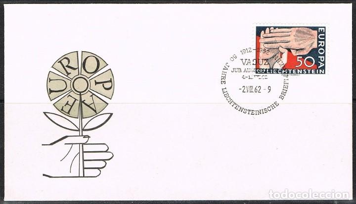 [CF6248B] LIECHTENSTEIN 1962, FDC SERIE EUROPA (NS) (Sellos - Extranjero - Europa - Liechtenstein)