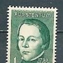 Sellos: LIECHTENSTEIN,1964,CENTENARIO DE PETER KAISER,YVERT 393,NUEVO,MNH**. Lote 168544068