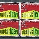 Sellos: LIECHTENSTEIN,1969,EUROPA,,BLOQUE DE CUATRO,YVERT 454,NUEVO,MNH**. Lote 168545672