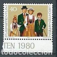 Timbres: LIECHTENSTEIN,1980,GRUPO DE TRIESENBERG,YVERT 695,NUEVO . Lote 169585568