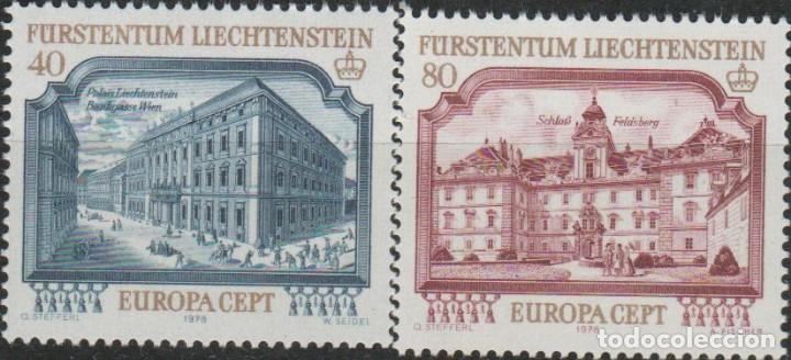 LOTE (2) SELLOS LIECHTENSTEIN NUEVOS SERIE 1978 (Sellos - Extranjero - Europa - Liechtenstein)