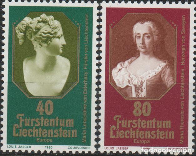 LOTE (2) SELLOS LIECHTENSTEIN NUEVOS SERIE 1980 (Sellos - Extranjero - Europa - Liechtenstein)