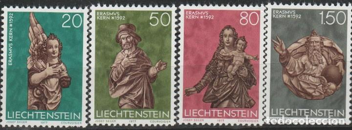 LOTE (2) SELLOS LIECHTENSTEIN NUEVOS SERIE 1977 (Sellos - Extranjero - Europa - Liechtenstein)