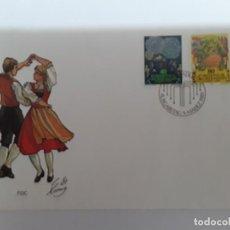 Sellos: SOBRE MATASELLOS ESPECIAL LIECHTENSTEIN TEMA EUROPA. Lote 171997515