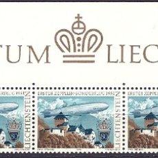 Sellos: LIECHTENSTEIN - 1979 - TIRA LA CABEZA - PRIMER VUELO ESPECIAL ZEPPELIN 1931- NUEVOS CON GOMA. Lote 177716263