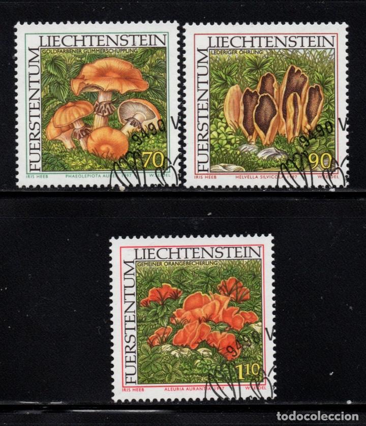 LIECHTENSTEIN 1093/95 - AÑO 1997 - FLORA - SETAS (Sellos - Extranjero - Europa - Liechtenstein)