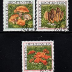 Sellos: LIECHTENSTEIN 1093/95 - AÑO 1997 - FLORA - SETAS. Lote 180011966