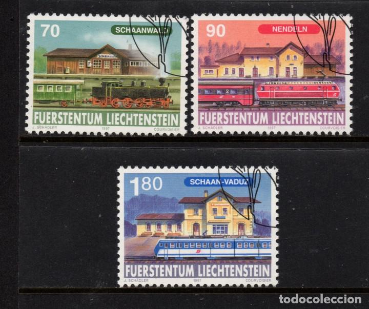 LIECHTENSTEIN 1096/98 - AÑO 1997 - TRENES - 125º ANIVERSARIO DEL FERROCARRIL DE LIECHTENSTEIN (Sellos - Extranjero - Europa - Liechtenstein)