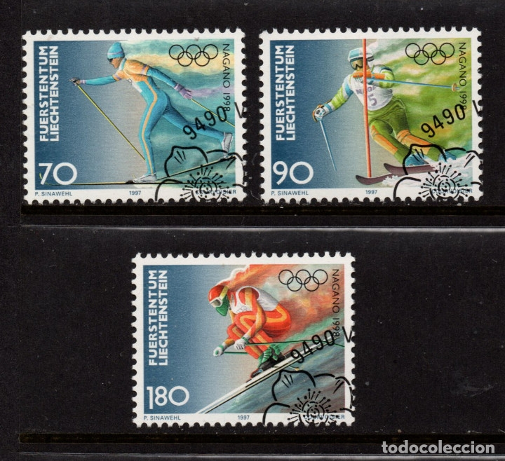 LIECHTENSTEIN 1103/05 - AÑO 1997 - JUEGOS OLIMPICOS DE INVIERNO DE NAGANO (Sellos - Extranjero - Europa - Liechtenstein)