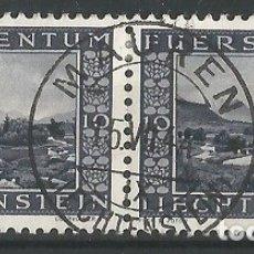 Sellos: PRINCIPADO LIECHTENSTEIN - PAREJA DE 1944 DE NATURALEZA - USADOS. Lote 182494375