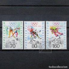 Sellos: LIECHTENSTEIN 1991 ~ DEPORTE: JUEGOS OLÍMPICOS DE INVIERNO EN ALBERTVILLE ~ SERIE NUEVA MNH LUJO. Lote 187067783