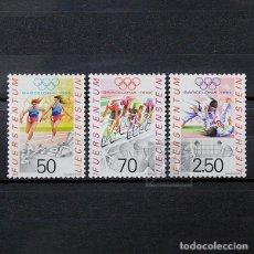 Sellos: LIECHTENSTEIN 1992 ~ DEPORTE: JUEGOS OLÍMPICOS DE VERANO EN BARCELONA ~ SERIE NUEVA MNH LUJO. Lote 187071032
