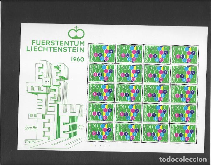 EUROPA 1960 MINIPLIEGO DE 20 SERIES NUEVO SIN FIJASELLOS (Sellos - Extranjero - Europa - Liechtenstein)
