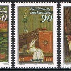 Sellos: [CF2873] LIECHTENSTEIN 1988, SERIE 'LA CARTA'. CUADRO DE ANTON HICKEL (MNH). Lote 190887505