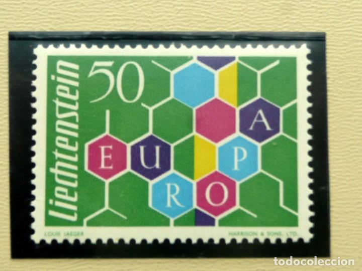 EUROPA CEPT 1960 LIECHTENSTEIN , MNH SIN FIJASELLOS, CAT. MICHEL Nº 398, 85€, VALOR CLAVE AÑO 1960 (Sellos - Extranjero - Europa - Liechtenstein)