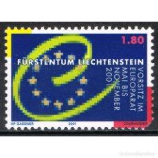 Sellos: [CF3182C] LIECHTENSTEIN 2001, PRESIDENCIA DEL CONSEJO DE EUROPA. (MNH). Lote 194985991