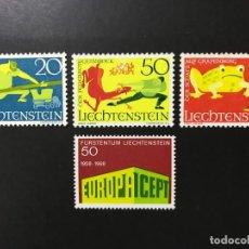 Francobolli: LIECHTENSTEIN 1969 MICHEL 507** Y 518/20** MNH. Lote 197247588