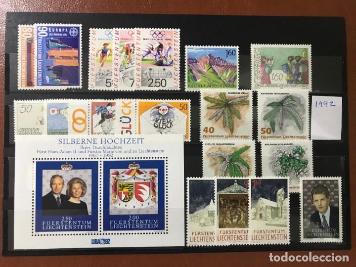 LIECHTENSTEIN 1992 AÑO COMPLETO MICHEL 1033/53** MNH (Sellos - Extranjero - Europa - Liechtenstein)