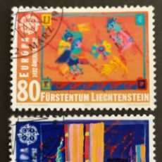 Sellos: LIECHTENSTEIN, EUROPA CEPT 1992,DESCUBRIMIENTO DE AMÉRICA USADOS (FOTOGRAFÍA REAL). Lote 203250202