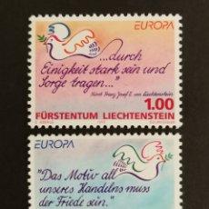 Sellos: LIECHTENSTEIN, EUROPA CEPT 1995 MNH, PAZ Y LIBERTAD (FOTOGRAFÍA REAL). Lote 203377643