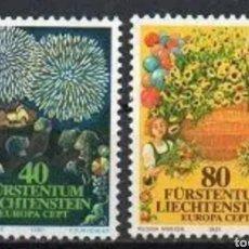 Sellos: LIECHTENSTEIN N°705/06 MNH, FIESTAS Y TRADICIONES POPULARES 1981 (FOTOGRAFÍA REAL). Lote 203489956